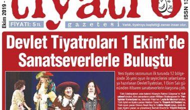 Tiyatro Gazetesi Ekim Ayı 103. Sayısı Çıktı